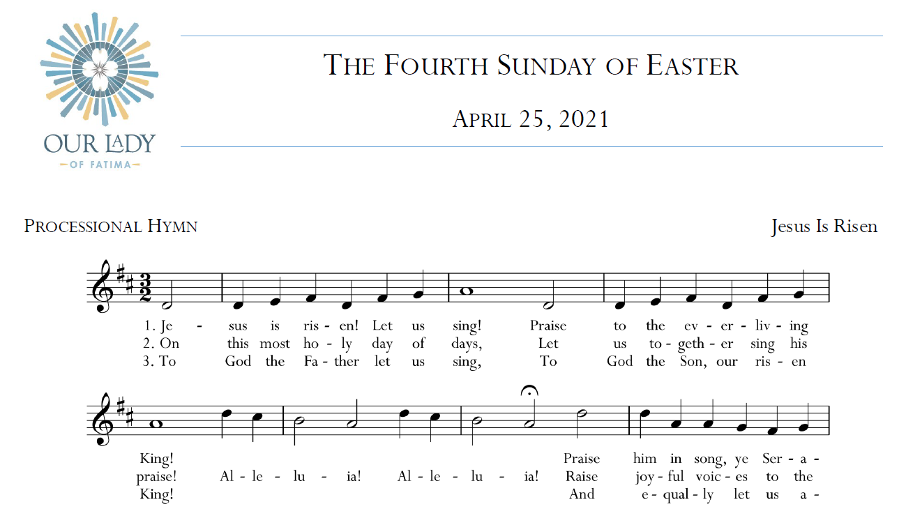 Worship Aid for Sunday, April 25