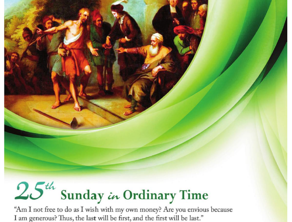 Bulletin for the 25th Sunday in Ordinary Time