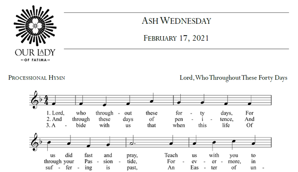 Worship Aid for Ash Wednesday
